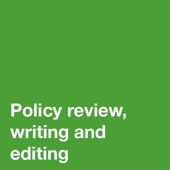 Policy Review Writing and Editing